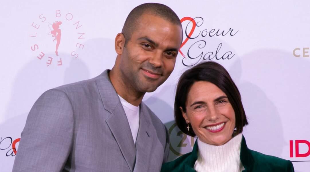 Alessandra Sublet a tenu à être présente également pour soutenir Tony Parker