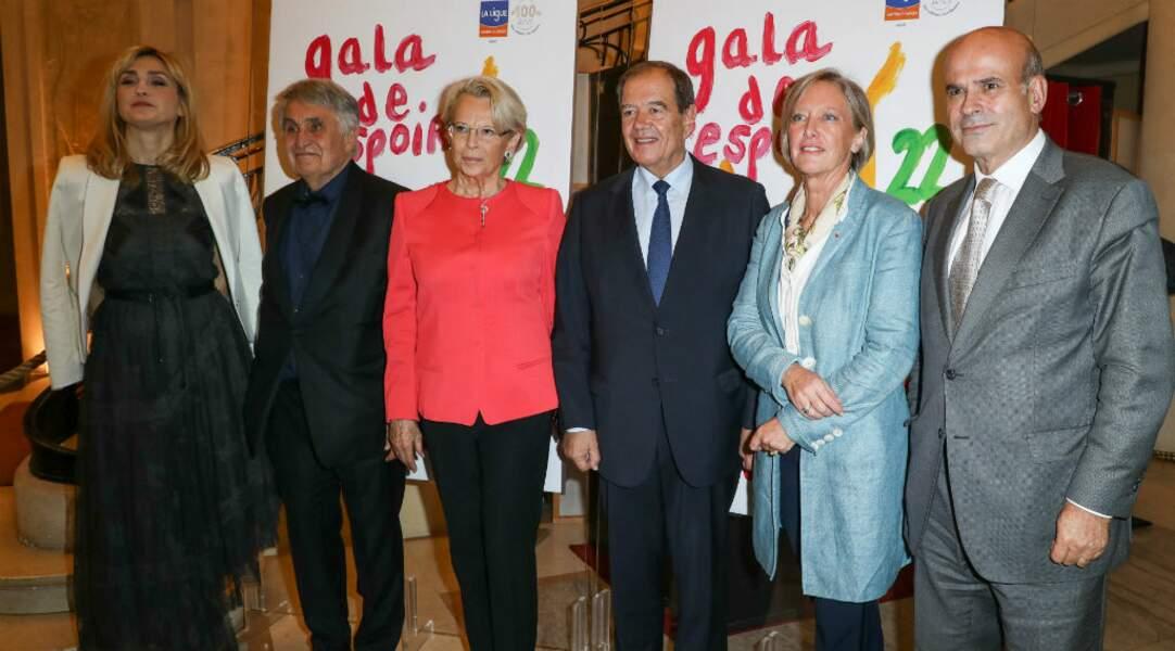 Et pose avec Jean-Loup Arnaud et Michèle Alliot-Marie