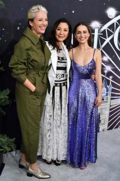 Jolie brochette avec Emma Thompson, Michelle Yeoh et Emilia Clarke