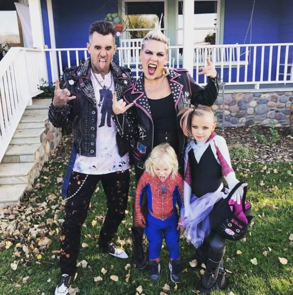 Halloween punk chez Pink