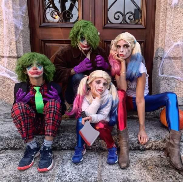 Sylvie Tellier et sa famille en mode Joker… Flippant !