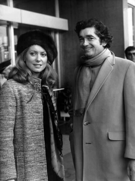 1970 : avec Jacques Demy à la présentation de Peau d'Âne, leur troisième film ensemble