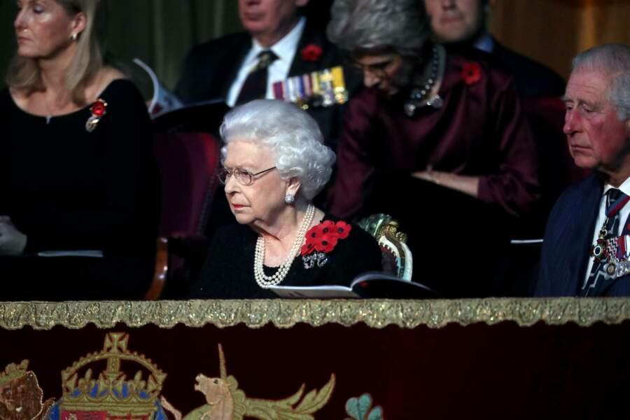 La reine Elizabeth II était également présente pour la journée commémorative en hommage aux soldats disparus.