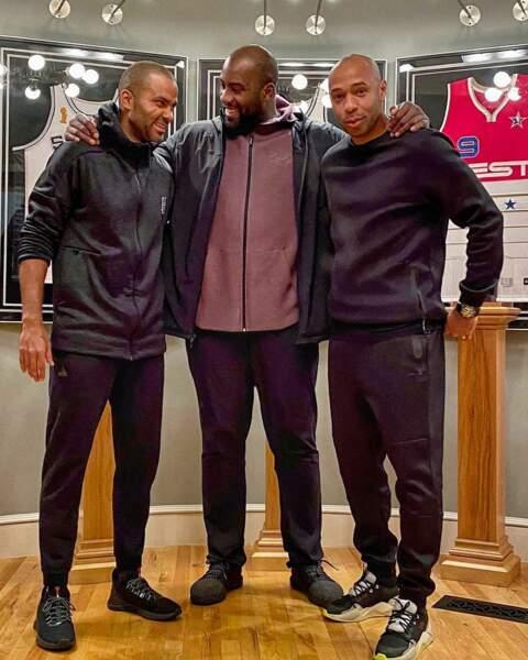Teddy Riner et Thierry Henry sont venus soutenir Tony Parker...