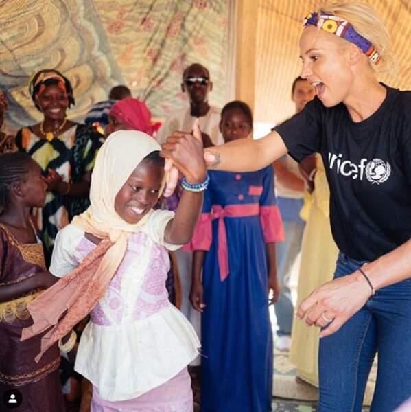 Elodie Gossuin est aussi ambassadrice de l'Unicef