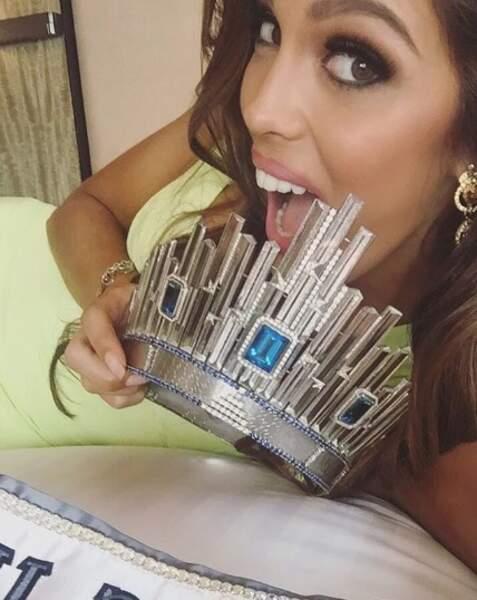 Son premier selfie en tant que Miss Univers, rien que ça !