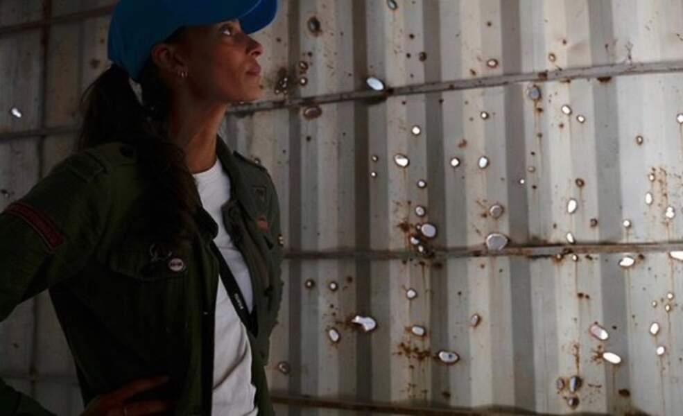 Mais Tatiana Silva voyage aussi beaucoup pour l'Unicef, dont elle est ambassadrice. Ici en Irak à l'été 2019