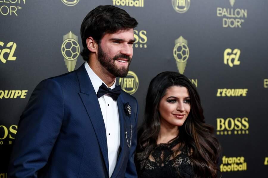 Alisson Becker et sa femme Natalia Loewe...