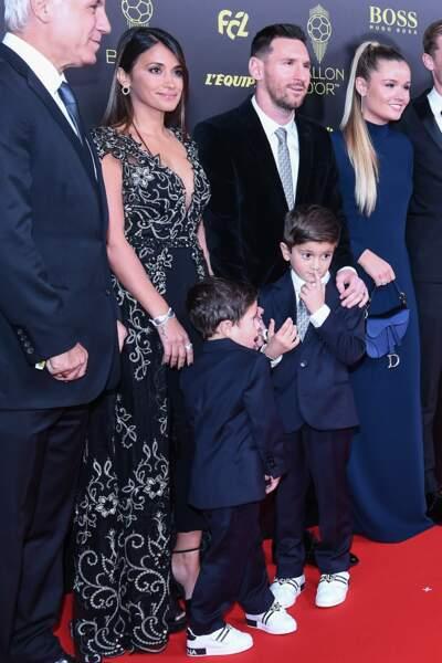 Lionel Messi était en famille avec sa femme et deux de leurs enfants