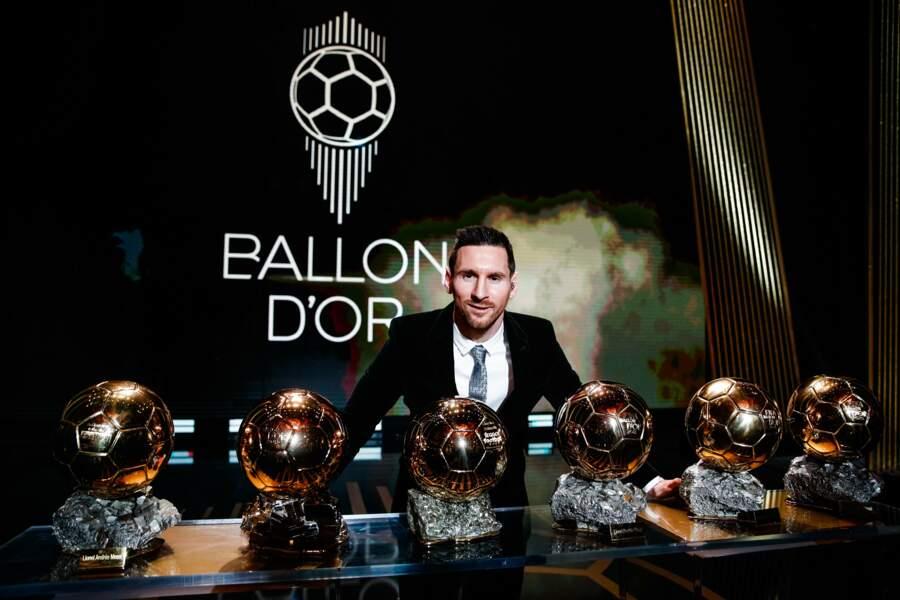 Lionel Messi lauréat de 6 Ballons d'Or !