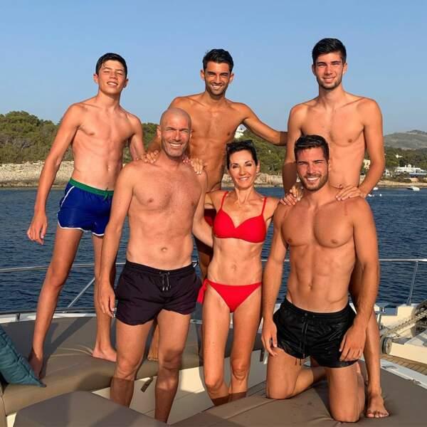 Chez les Zidane, que des garçons ! Et tous footballeurs !