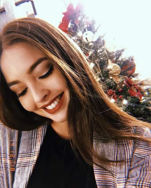 Elle est sublime pour fêter Noël
