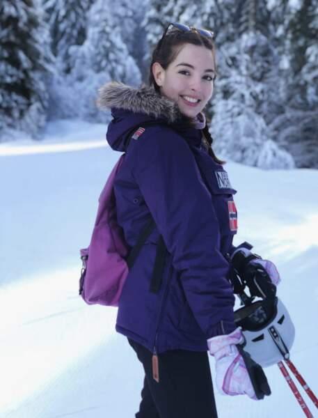 La Miss aime passer du temps au ski en hiver