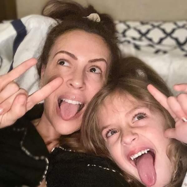 Alyssa Milano et sa fille Elizabella sont de vraies punks.