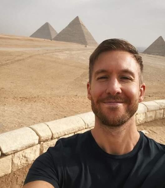 Calvin Harris a fait un petit tour en Egypte.