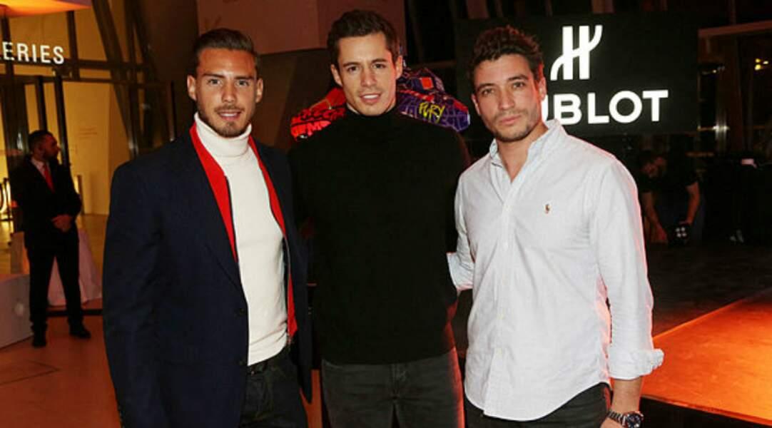 Sebastien Bechaud, Valentin Lucas et Gregoire Desfond lors de la Soirée Hublot Loves Art à la Fondation Vuitton