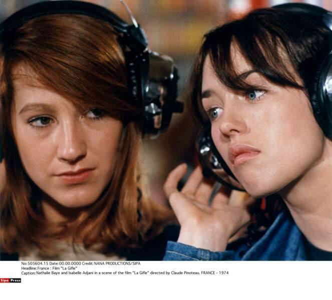 Dans La gifle, avec Isabelle Adjani (1974)