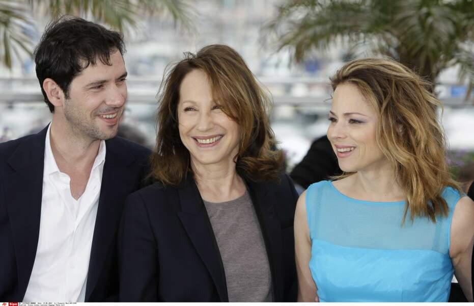 Avec Melvil Paupaud et Suzanne Clement lors du photo call à Cannes en 2012, pour le film de Xavier Dolan Laurence Anyways.