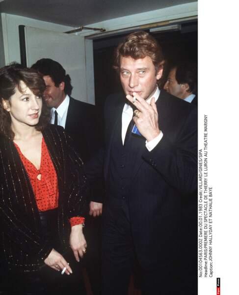 Avec Johnny Hallyday en 1983