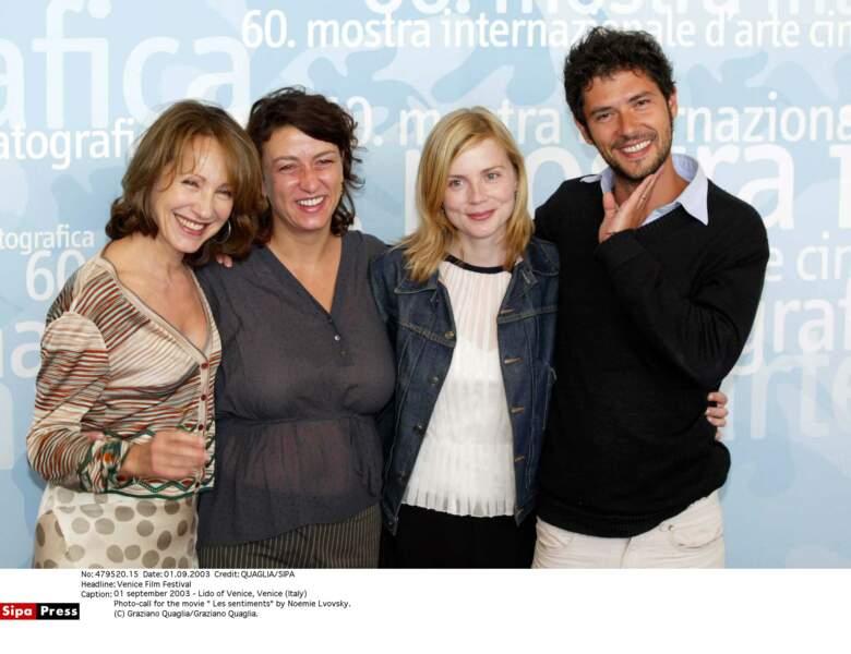 En 2003 à Venise, pour Les sentiments de Noemie Lvovsky.,avec Melville Poupaud et Isabelle Carré