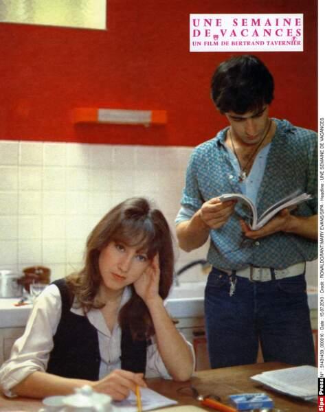 Dans Une semaine de vacances, avec Gérard Lanvin (1980)