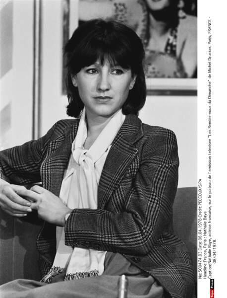 """Sur le plateau de l'émission télé """"Les Rendez-vous du Dimanche», en 1978"""