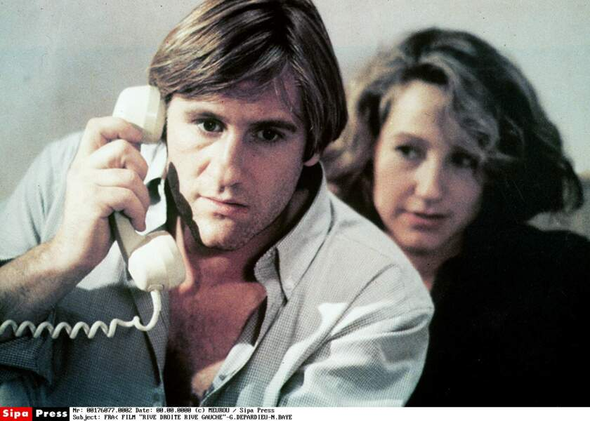 Avec Gérard Depardieu dans Rive droite, rive gauche (1984)