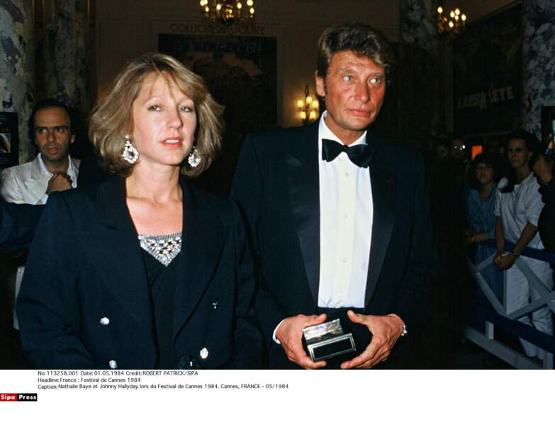 Avec Johnny Hallyday Lors du Festival de Cannes 1984.