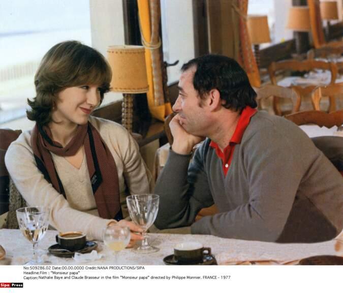 Avec Claude Brasseur dans Monsieur papa (1977)
