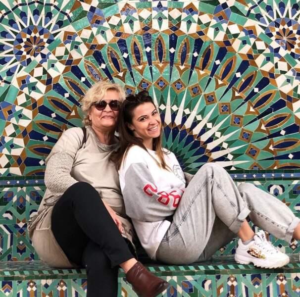 Denitsa Ikonomova et sa maman étaient à Casablanca.