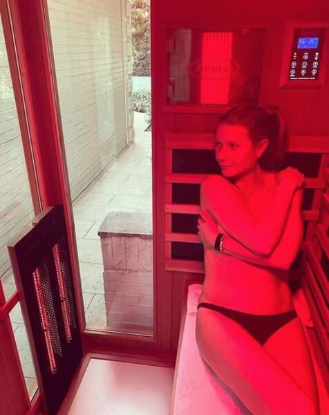 C'était l'heure du sauna pour Gwyneth Paltrow.