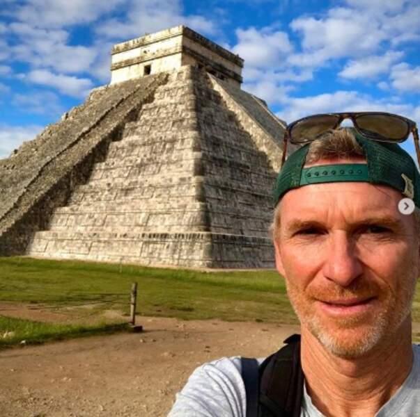 Denis Brogniart profitait des fêtes pour faire du tourisme au Mexique.