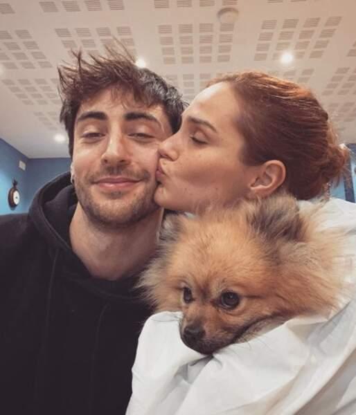 Selfie en famille pour Camille Lou, Gabriele et Nuts.