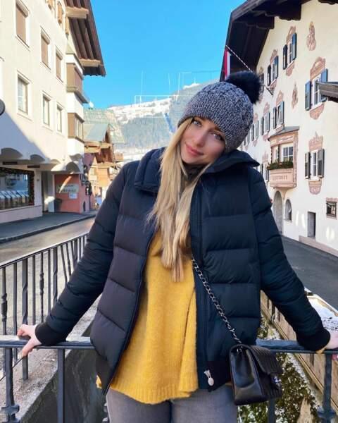 """Depuis l'Autriche, Emma Smet vous envoie ses voeux de """"paix, joie, amour, santé, prospérité, chance et bonheur"""""""
