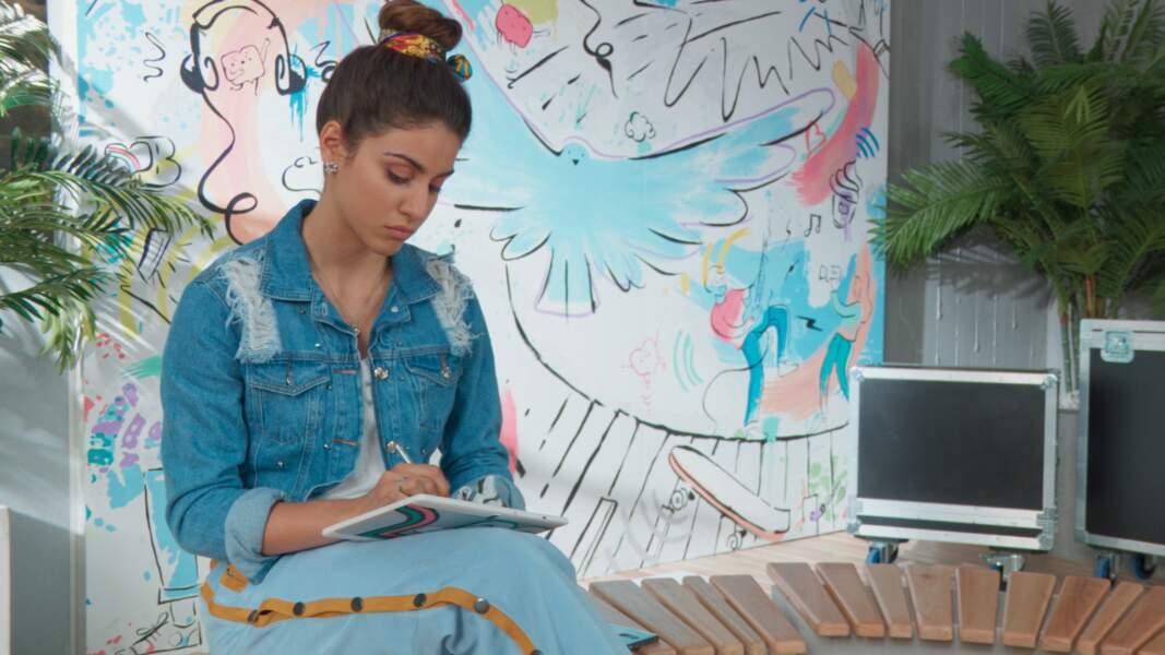 Celui de Bia, une jeune fille très optimiste, qui aime chanter et dessiner
