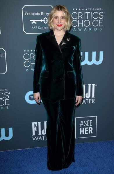 Greta Gerwig est la gagnante du trophée du Meilleur scénario adapté pour Les Filles du Docteur March