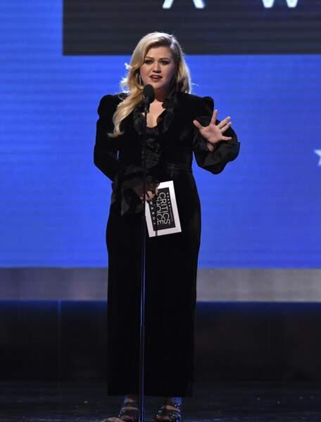 La chanteuse américaine Kelly Clarkson était présente sur la scène de l'événement