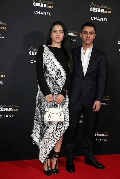 Hafsia Herzi et son acteur Djanis Bouzyani, nommé pour le très beau Tu mérites un amour