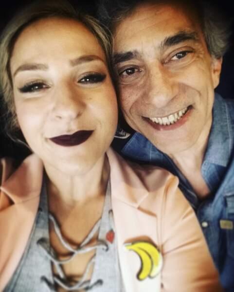 Avec son père, malheureusement décédé