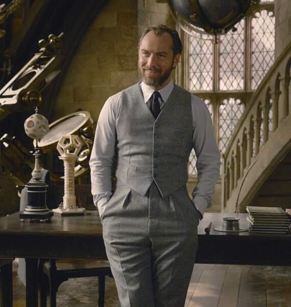 Dans Les animaux fantastiques : les crimes de Grindelwald (2018), Jude Law a incarné la version jeune d'Albus Dumbledore