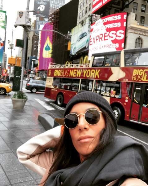 À 34 ans, la jeune femme a visité New York...