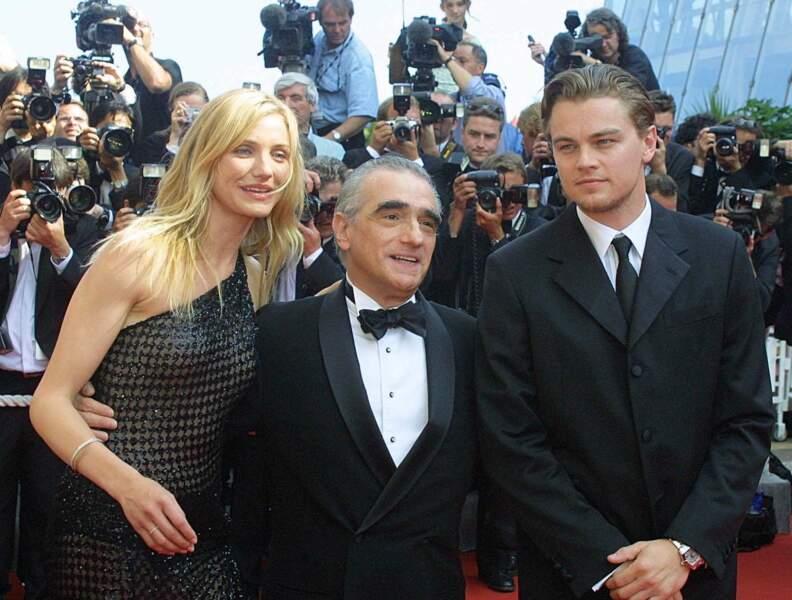 """L'année 2002 lui permet de travailler avec de nouveaux réalisateurs. """"Gangs of New York"""" (ici aux côtés de Cameron Diaz) : le début d'une longue amitié pour Leo et le réalisateur Martin Scorsese"""