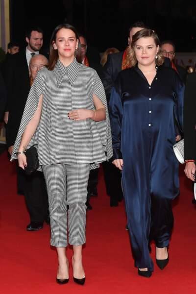 Pauline Ducruet et sa sœur Camille Gottlieb au 44e Festival du cirque de Monaco samedi 18 janvier 2020