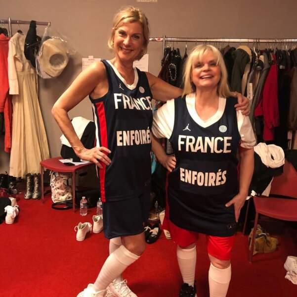 Michèle Laroque et Isabelle Nanty en basketteuses. Mais pourquoi ?