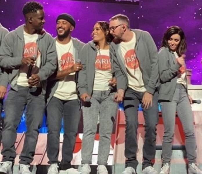 Black M, Slimane, Amel Bent, Christophe Willem et Jenifer s'éclatent sur À coté de toi, l'hymne 2020 des Enfoirés