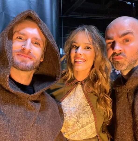 Philippe Lacheau, Elodie Fontan et Julien Arutti grimés en moines