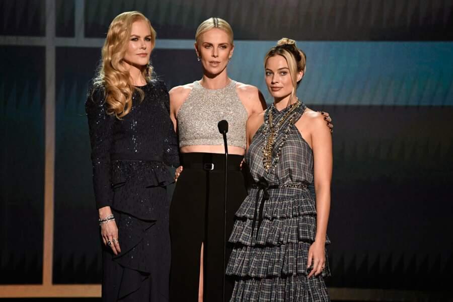 Nicole Kidman, Charlize Theron et Margot Robbie, stars du film Scandale