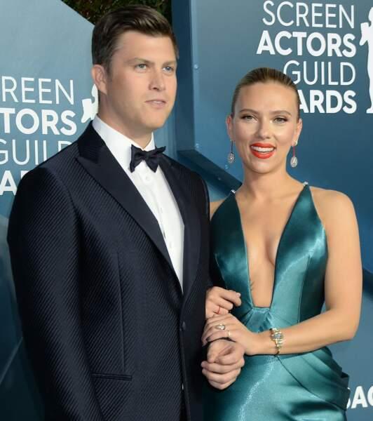 Scarlett Johansson et son fiancé Colin Jost