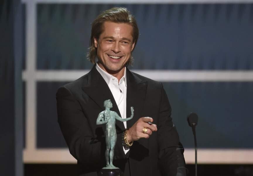 Sacré meilleur acteur dans un second rôle, Brad Pitt est aussi le roi de la blagounette