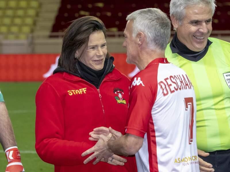 La princesse Stéphanie félicite Didier Deschamps